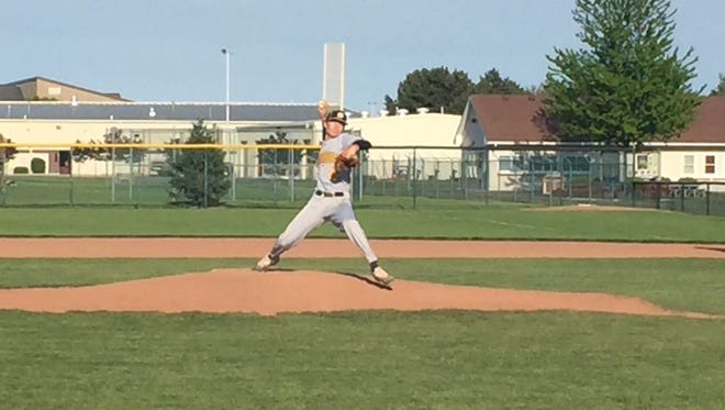 Austin Berkel tossed a three-hit shutout Wednesday as Woodmore advanced to the sectional finals in Division III.