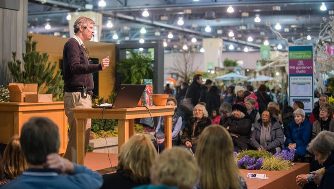 A scene from the from the 2017Pennsylvania Horticultural Society Philadelphia Flower. This year's show, which features beautiful blooms, seminars and much more, runs from March 3 to 11 at the Pennsylvania Convention Center, 12th and Arch streets.