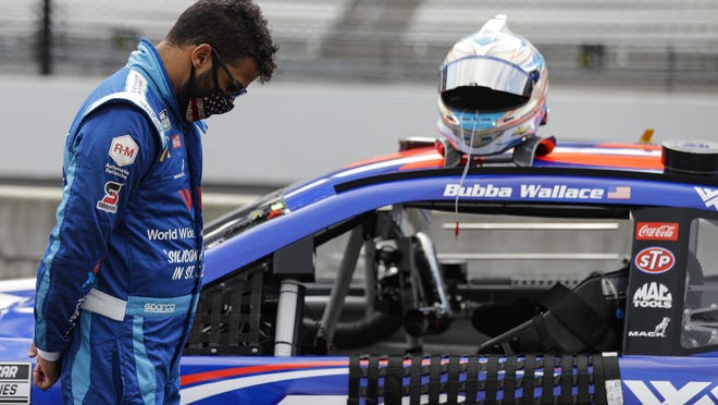 Bubba Wallace was the target of a tweet from President Trump on Monday.