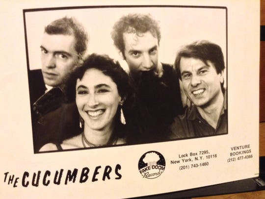 The Cucumbers, an indie rock band founded by Millburn residents Jon Fried and Deena Shoshkes in the 1980s, will play in Asbury Park on Saturday, Jan. 13. From left, John Williams (bass), Deena Shoshkes (guitar, vocals), Jon Fried (guitar, vocals) and Yuergen Renner (drums).
