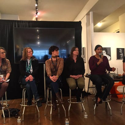 Women in the arts panel featuring (from left) moderator