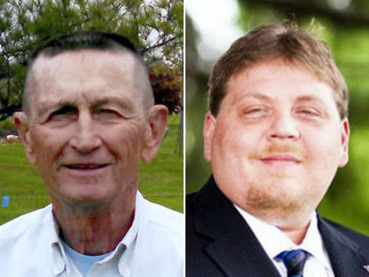 Tim Beard III, left, and Mike Strausbaugh, right, are running for township supervisor in Hamilton Township.