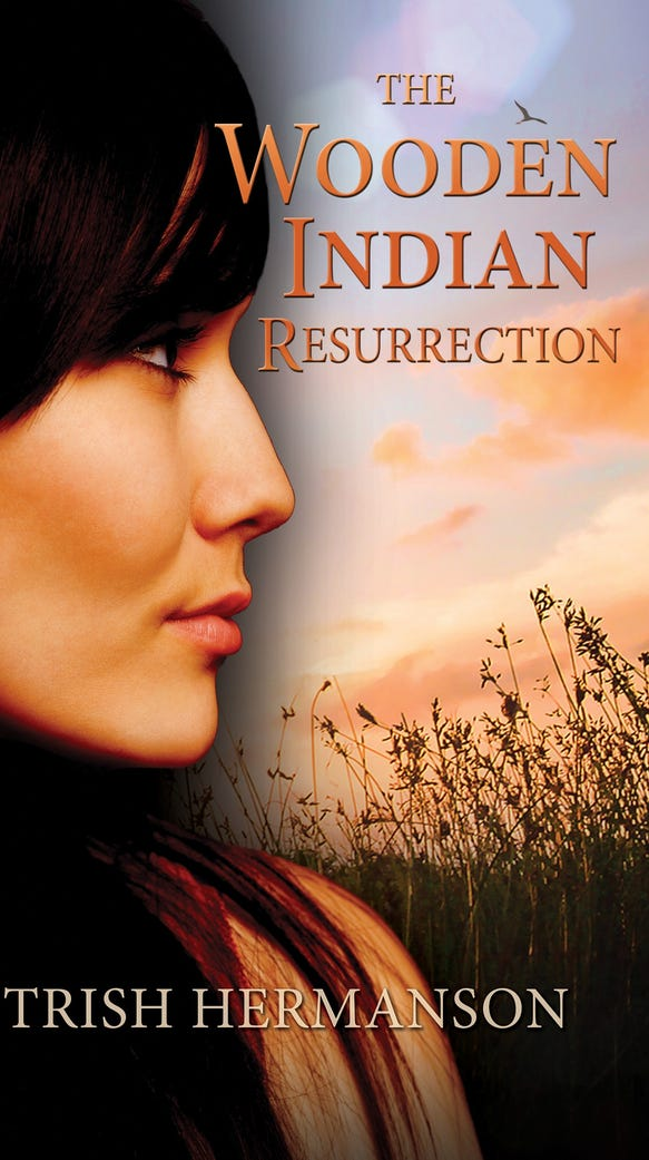 "Cover of Trish Hermanson's new novel ""The Wooden Indian"
