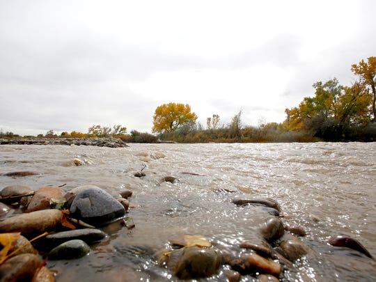 The Animas River flows through Riverside Park on Wednesday