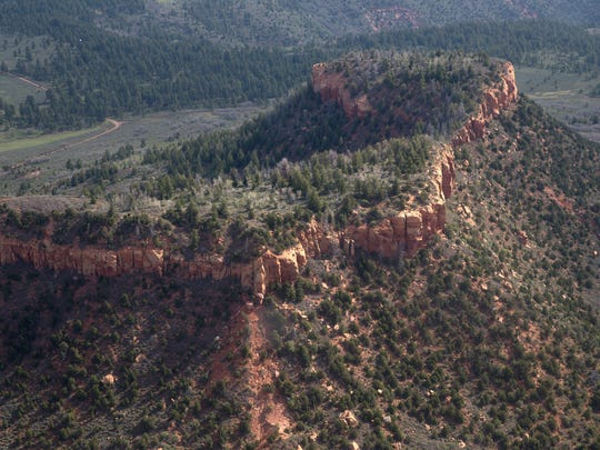 Bears Ears is pictured during a flyover with EcoFlight,