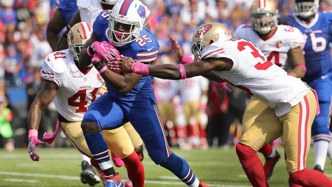 Bills running back LeSean McCoy cut back for a touchdown in the second quarter against the 49ers.