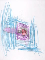 """""""How to cook a turkey"""" drawing by Albany Elementary kindergartner Grace."""