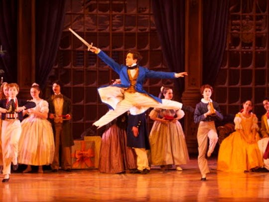 Barry Molina in Milwaukee Ballet's production of the Nutcracker. photo by Mark Frohna