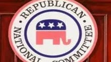The logo of the Republican National Committee.