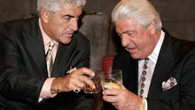 """Dr. Dan Conte, at right, with his friend Frank Vincent, an actor known for his roles in """"Goodfellas"""" and """"The Sopranos."""""""