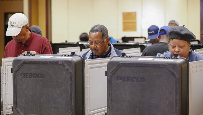 Early voting in Decatur, Ga., on Thursday.