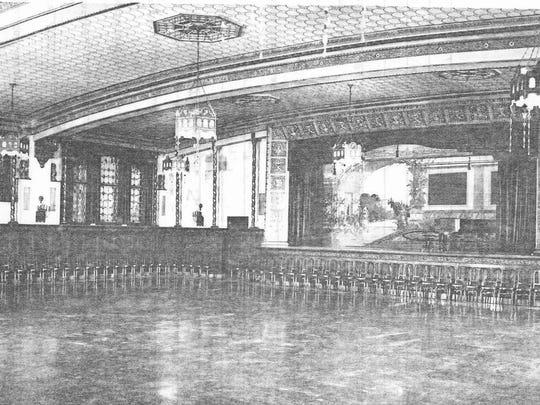 The Spanish Ballroom in the Arlington Hotel.