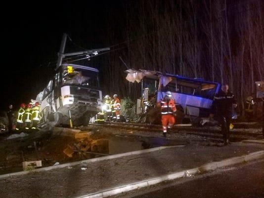AP FRANCE TRAIN ACCIDENT I FRA
