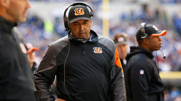 Cincinnati Bengals head coach Marvin Lewis didn't have many answers for the Indianapolis Colts offense or defense in their 27-0 loss at Lucas Oil Stadium.