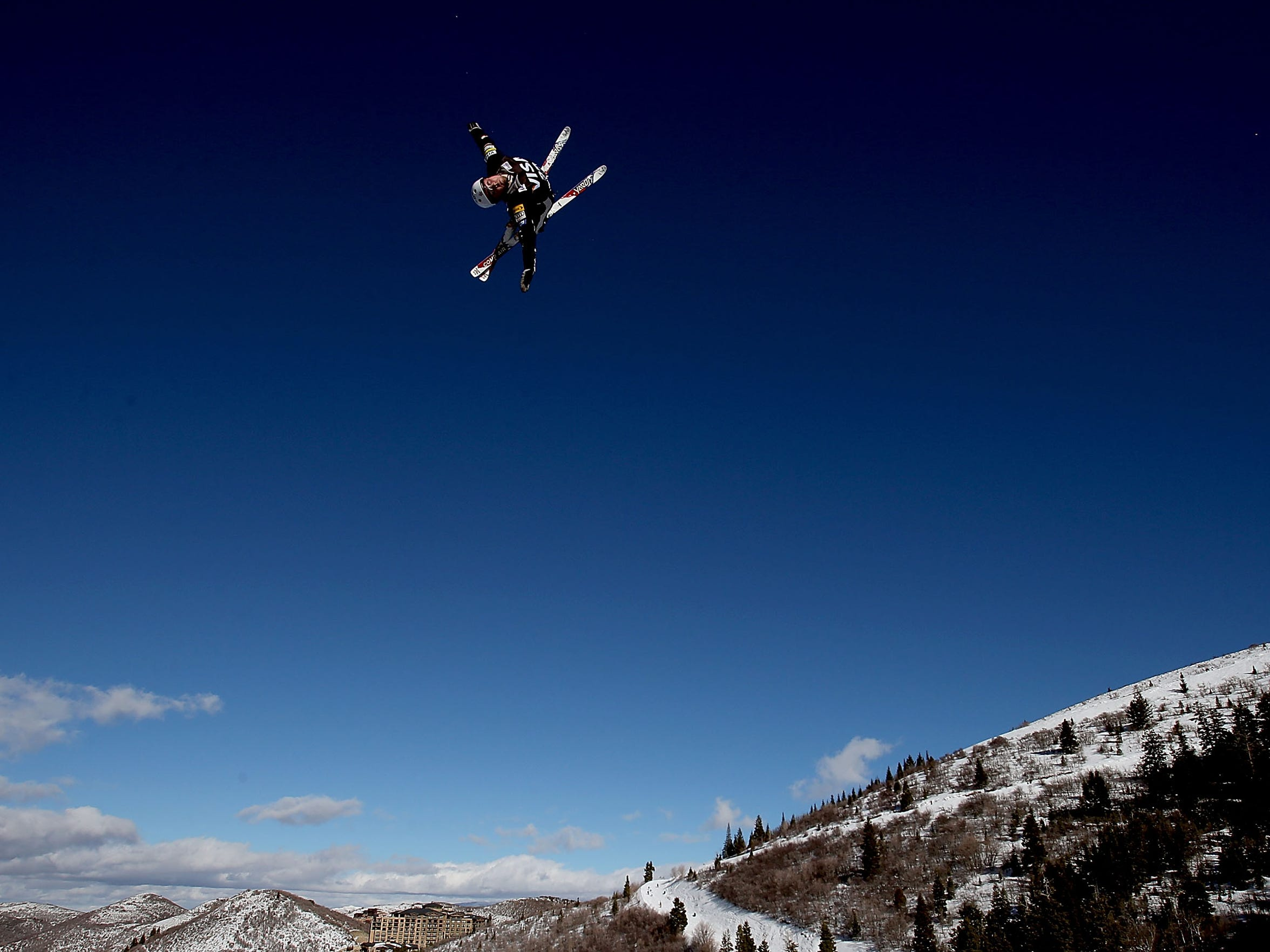 Jonathon Lillis #20 jumps while training for the Mens