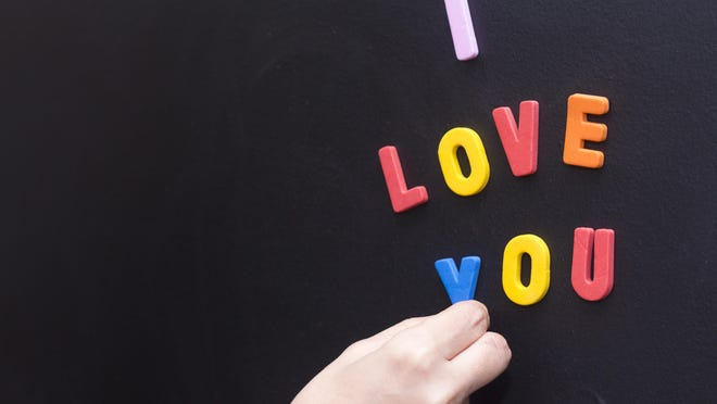 Leave a sweet note for your kids in the morning with magnetic letters.
