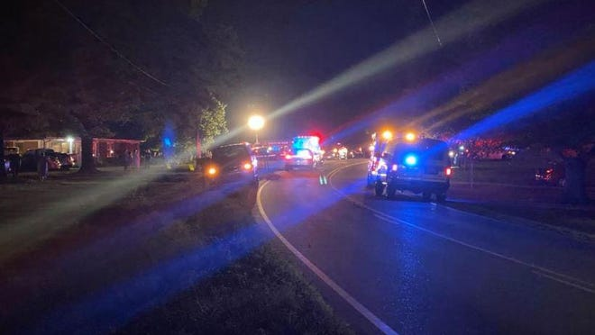 A man was killed in this wreck Friday night on St. Mark's Church Road.