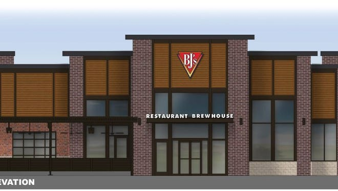 A rendering of the proposed BJ's Restaurant and Brewhouse in Livonia.