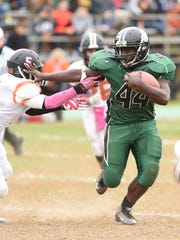 Spackenkill High School's Dhyquem Lewinson, right,