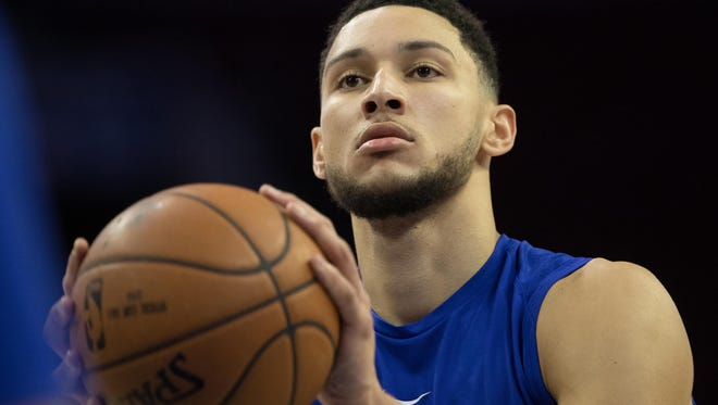 Philadelphia 76ers guard Ben Simmons (25) was named Eastern Conference Rookie of the Month for October/November on Friday.