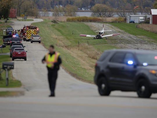 A single engine plane crashed at the Courtney Plummer