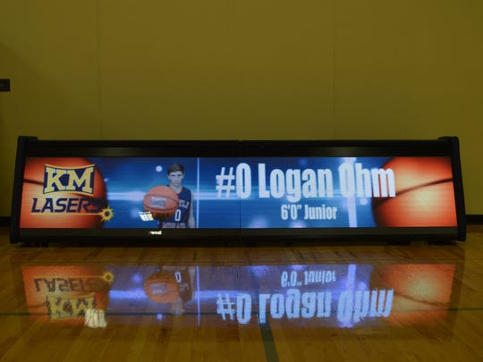 The new video-capable scorer's table at Kettle Moraine will add something to the fan experience that isn't available at other high schools.