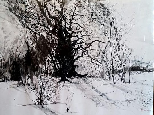 """""""Old Tree Sketch"""" by Louise Prater."""