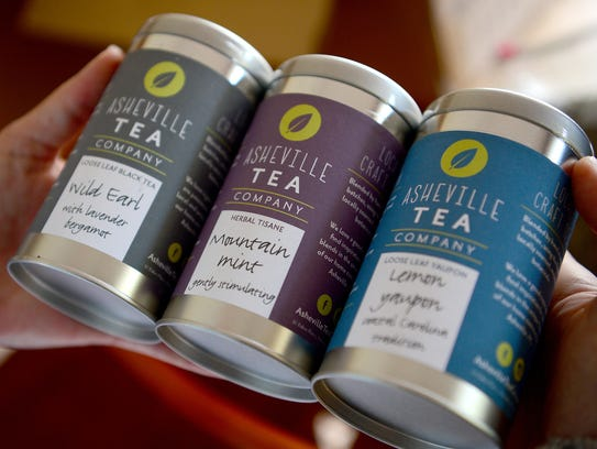 Jessie Dean, owner of Asheville Tea Company, is creating