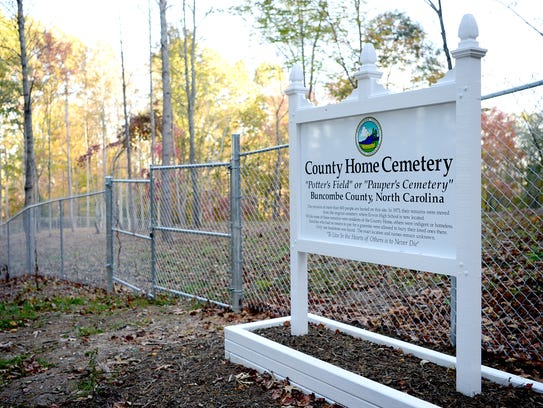The County Home Cemetery has been moved and restored