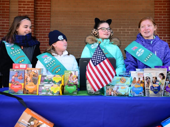 mountain causes local scouts learn business selling cookies