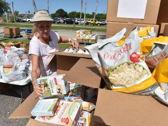 Treasure Coast Food Bank food distribution hosted by