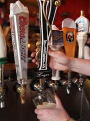 The tap for Yonkers Lager at Burke's Bar located in