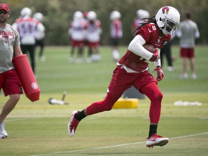 Cardinals wide receiver  Cobi Hamilton (12) during