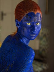 Jennifer Lawrence as Mystique in 'X-Men: Days of Future Past.'