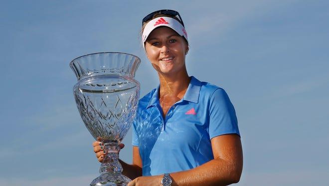 Anna Nordqvist  celebrates her fifth career LPGA title.