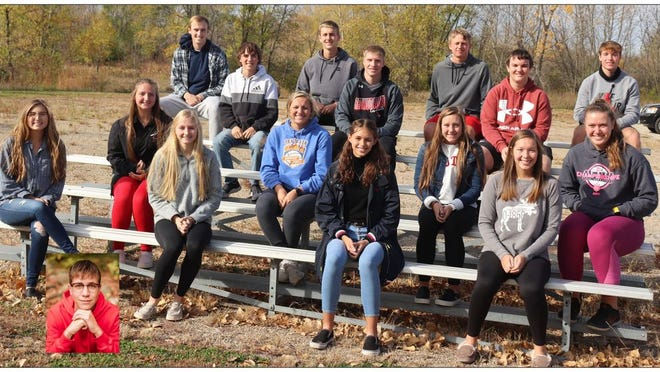 The 2020 Redwood Valley High School Homecoming court was recently announced. The queen candidates include: Isabel Hillestad (front left), Hannah Schjenken, Alexcia Nelson, Sydney Mertens, Payden Beran (second row, left), Sydney Sommers, Aubree Hicks and Haley Garman (emcee). The king candidates are: Carter Brandt (third row, left), Carter Johnson, Matthew Prouty (emcee), Easton Quast (back left), Jaydon Estebo, Connor Josephson and Andrew Stephens and Justus Probst (inset). The coronation ceremony is being held Oct. 26. Due to COVID-19 restrictions the public will not be allowed to attend.