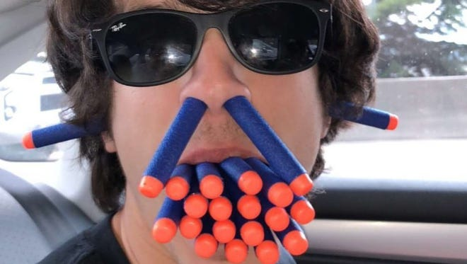 This photo of South Kitsap High School student Colin Nuss was used as the icon for the @SKHSNERF Twitter account. Students this spring are participating in the first ever Nerf War. The group's rules prohibit playing the game on any South Kitsap campus.