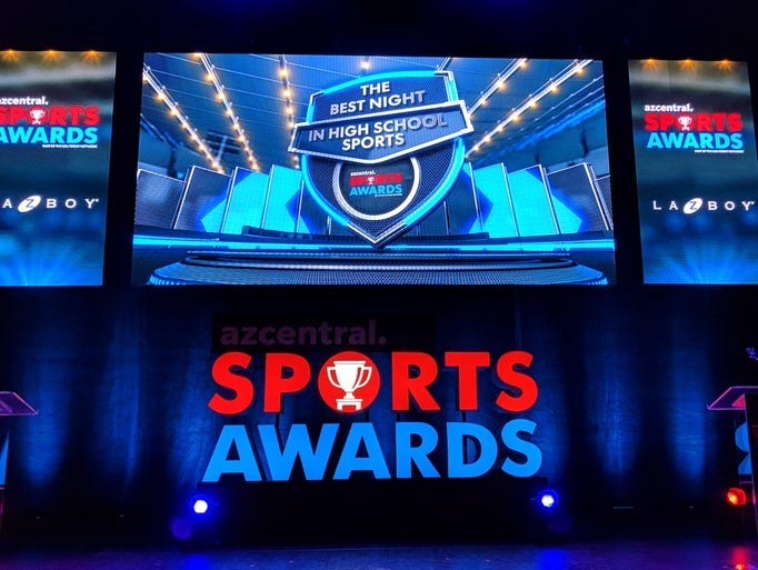 The azcentral.com Sports Awards stage. We celebrate