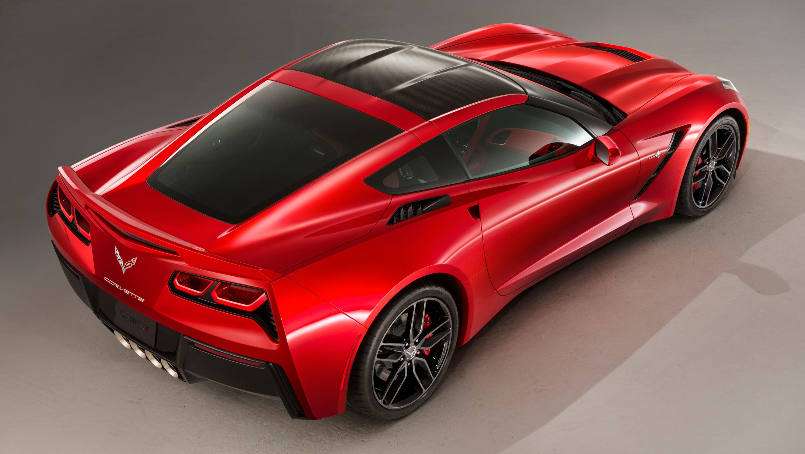 The fastback lines of the 2014 Corvette Stingray coupe model.