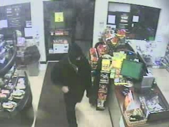 A man entered the Rutter's in the 600 block of Broadway around 4 a.m. Saturday, according to a news release from Hanover Borough Police Department. He pointed a handgun at the cashier, demanded money and received an undisclosed amount of cash. At some point during the incident, he shot a 54-year-old female employee in the leg, according to police.