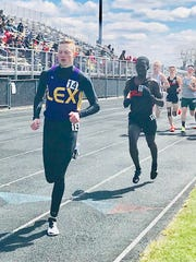 Lexington senior Ryan Johnston, a Louisville commit, led from start to finish in the 1600 meters at Saturday's Lexington Invitational.