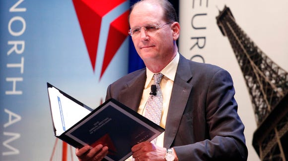 Delta Air Lines CEO Richard Anderson listens during