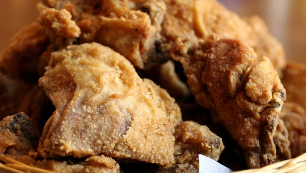Fried chicken at Monell's.