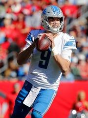 Dec 10, 2017; Tampa, FL, USA; Lions quarterback Matthew