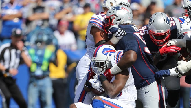 The Patriots manhandled the Bills for most of the game Sunday, Sept. 20, 2015.