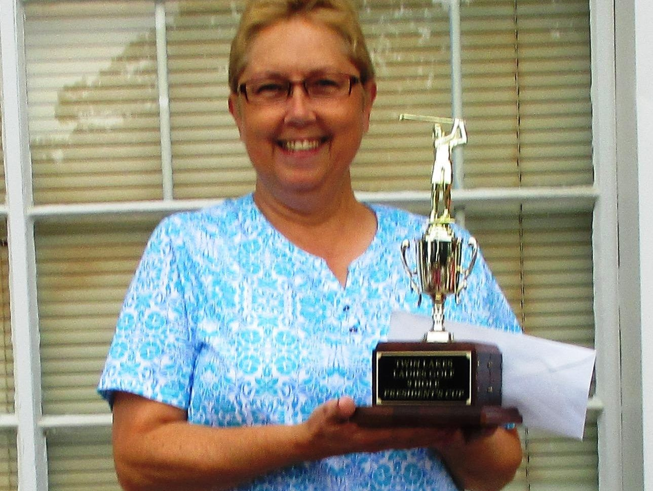 Peggy Fazio won the 2015 President's Cup after taking first place in the Twin Lakes Ladies Golf League match play event for nine-hole players, which ran through June. Not pictured is runner-up Karen Bushman. The ladies league has held the event for more than 20 years.