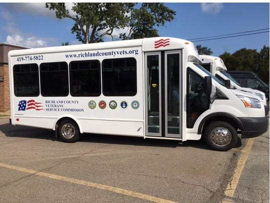Richland County Veteran Services Commission Friday dedicated two new vans used for transporting local veterans to medical appointments in Cleveland.