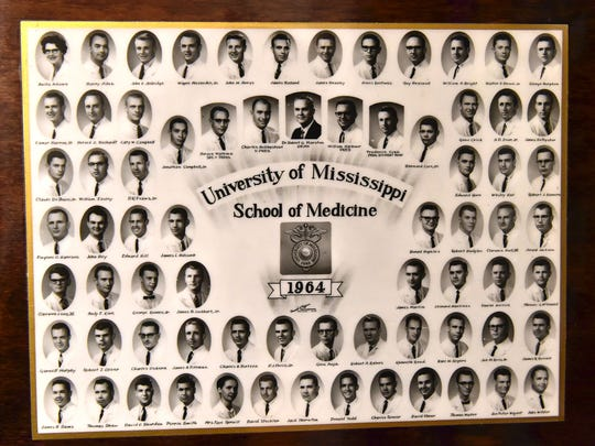 Dr. Charles Ozborn of Eupora can be seen in the sixth row, thirrd column of his medical school graduating class portrait.