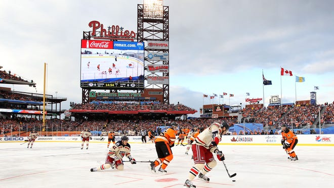 The Flyers will host an outdoor hockey game with the Pittsburgh Penguins at either Lincoln Financial Field or Citizen's Bank Park in 2019. The Penguins will host the Flyers in an outdoor game on Feb. 18, 2017 at Heinz Field.
