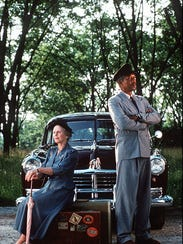 "1989 Jessica Tandy and Morgan Freeman in ""Driving Miss"